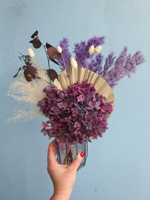 Composition with hydrangea in a vase