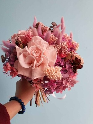Букет стабилизированных цветов Розовое облако