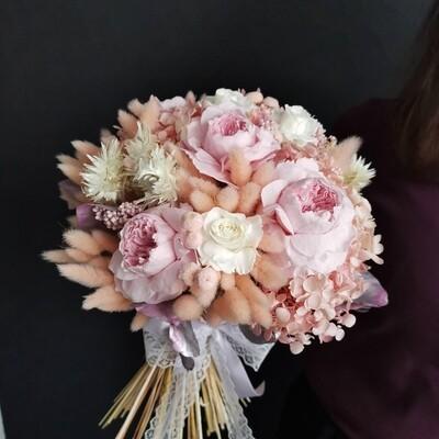 Букет свадебный с садовыми розами