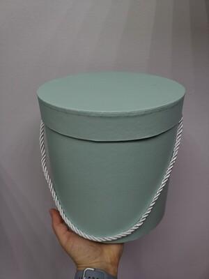 Коробка подарочная круглая мятная d=19, h=19