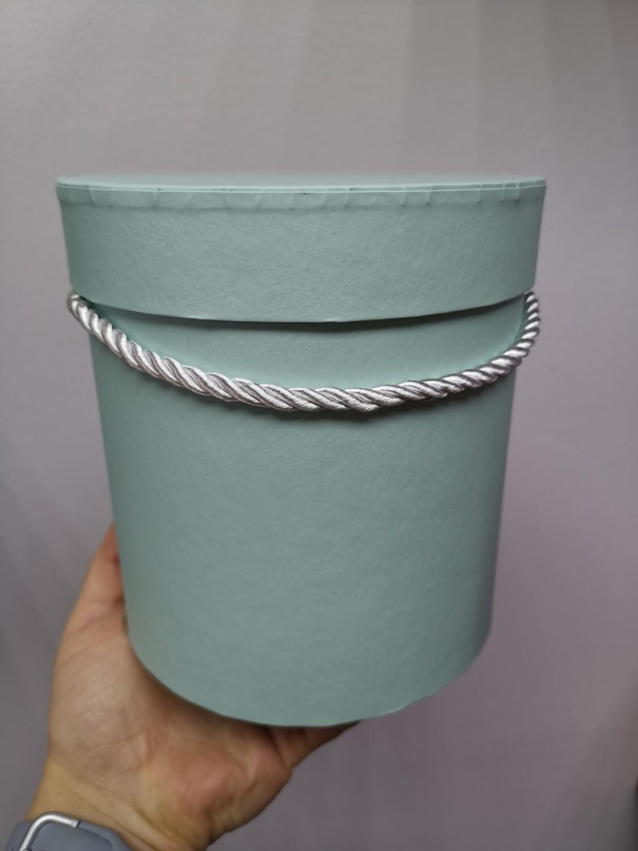 Коробка подарочная круглая мятная d=17, h=17
