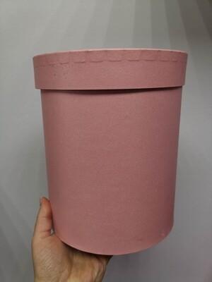 Коробка подарочная круглая розовая d=16, h=19