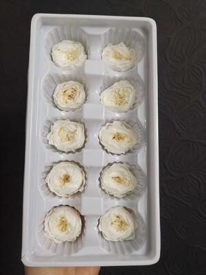 Роза белая 3-3,5 пионовидная стабилизированная