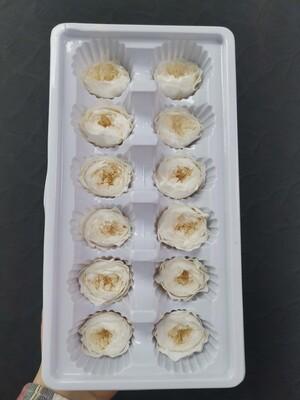 Роза белая (крем) 2,5-3см пионовидная стабилизированная