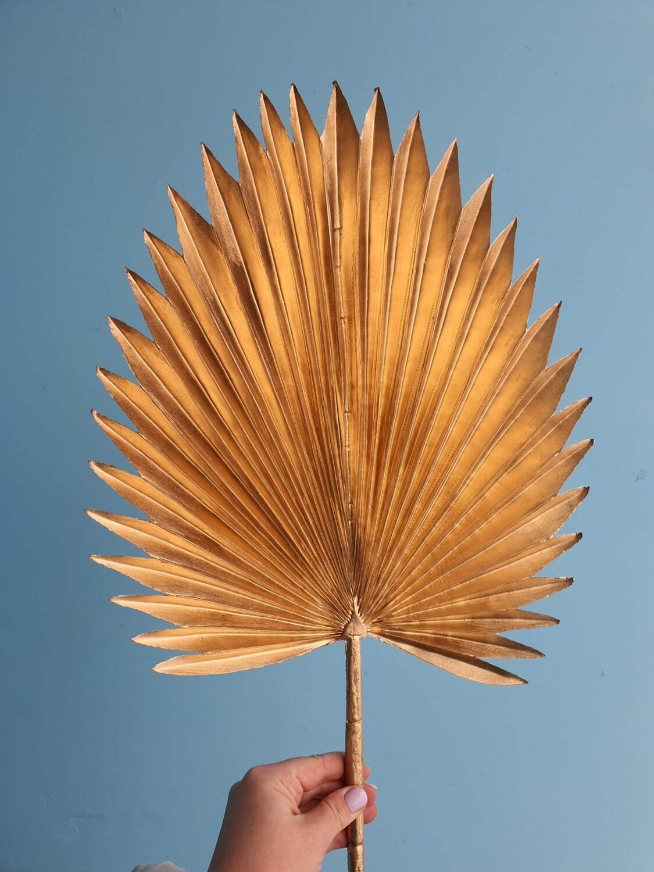 Пальмовый лист золотой искусственный