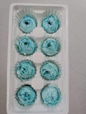 Роза голубая 4см пионовидная