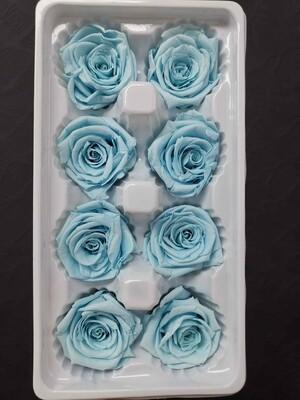 Роза голубая нежная 4см стабилизированная