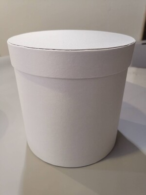 Коробка шляпная белая 19*19