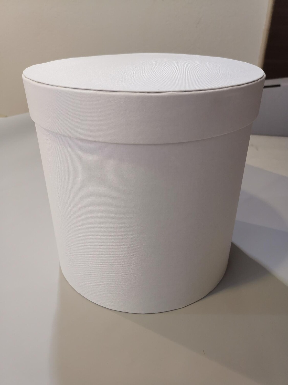 Коробка шляпная белая 16*17