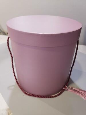 Коробка шляпная розовая пыльная 22*22