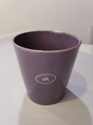 Кашпо керамика темно сиреневое d=13