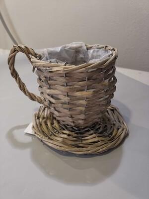 Кашпо кружка плетеная D=12