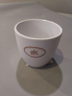 Кашпо керамика белое d=8см