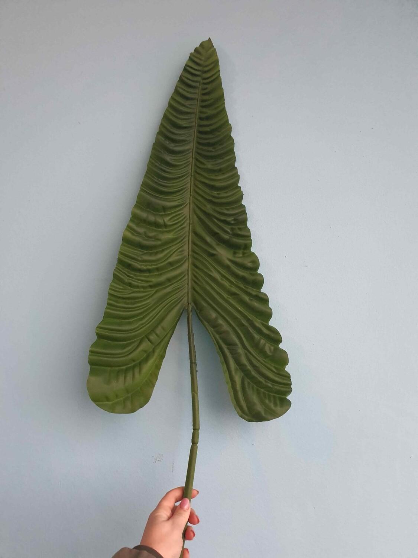 Лист пальмы искусственный Сердце 105см