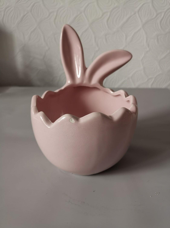 Кашпо пасхальное керамика 10*16*12 нежно розовое