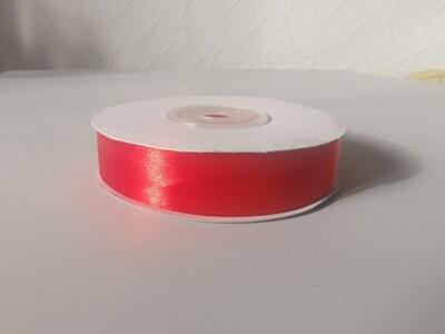 Лента атласная красная 1,5см*25м