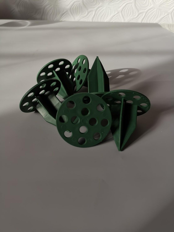Фиксатор пластиковый зелёный d=5см