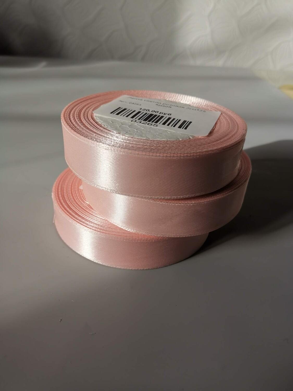 Лента атласная светло розовая 2см*25 ярдов