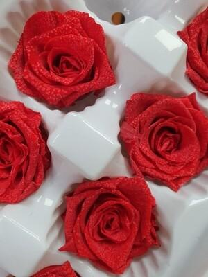 Роза красная 3,5-4см стабилизированная распродажа