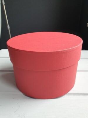 Коробка красная D=15, H=10 подарочная