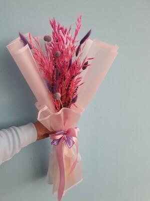 Букет из розового овса