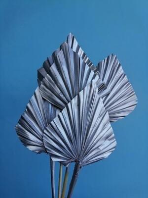 Листья пальмы копья серебро 5шт