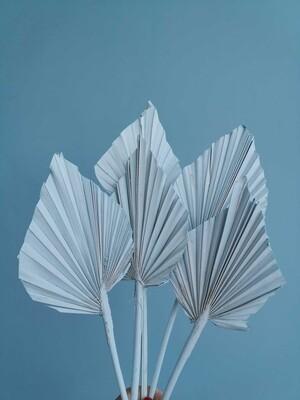 Листья пальмы голубые 5шт