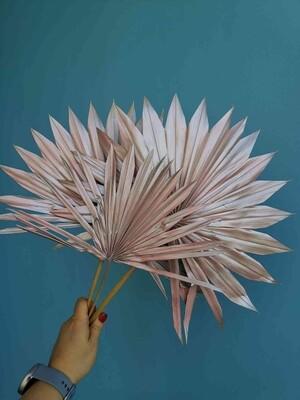 Листья пальмы веером розовое золото 3шт