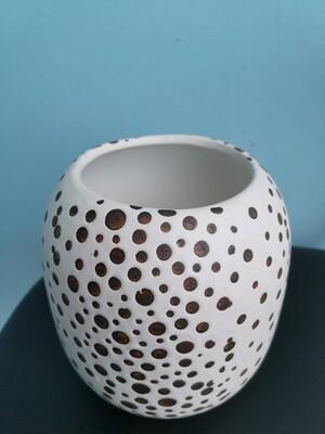 Ваза керамика черно-белая далматинец 14,5*15,5 ч
