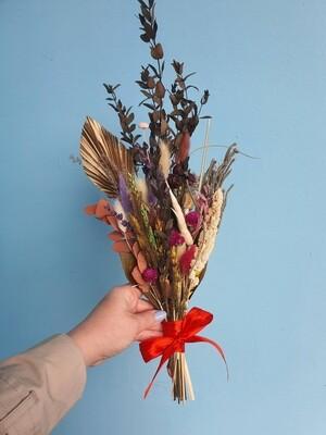 Букет комплимент натуральный с бронзовой пальмой