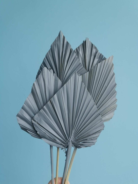 Листья пальмы копья серый бетон 5шт