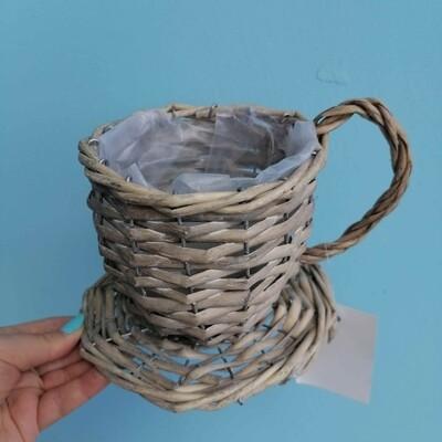 Cache-pot wicker mug D = 12