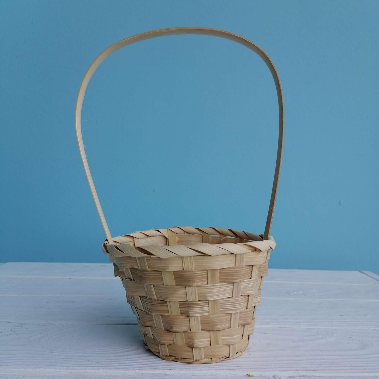 Корзина плетёная бамбук d=13cm, h=28cm