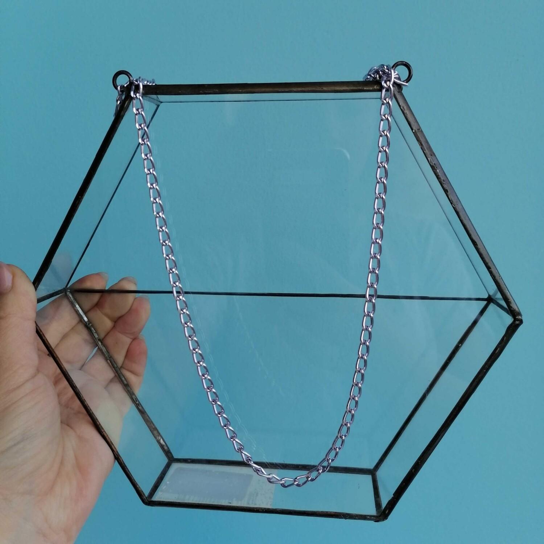 Флорариум шестигранник подвесной стекло