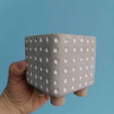 Planter ceramic cube gray 7,5 cm