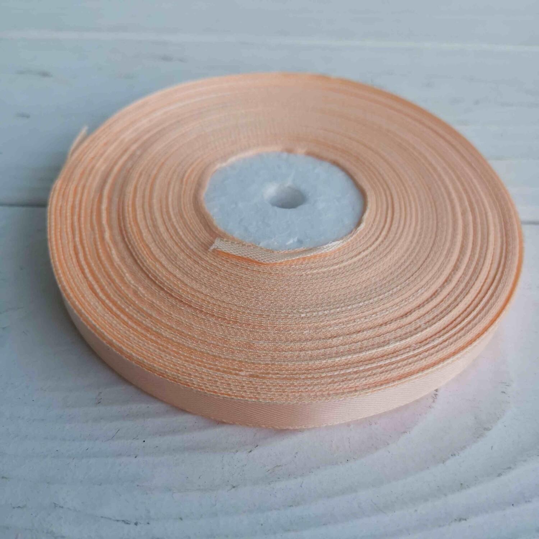 Лента персиковая светлая 10мм