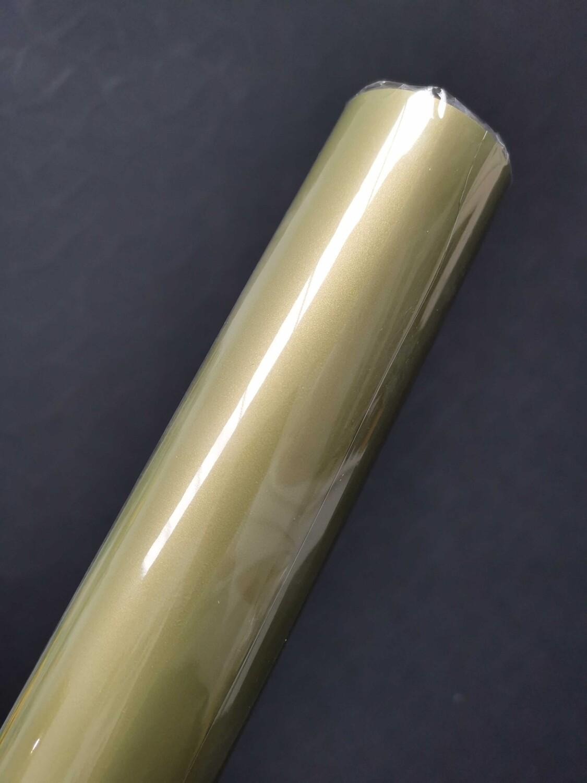 Пленка матовая двусторонняя хаки/золото 50см*10м