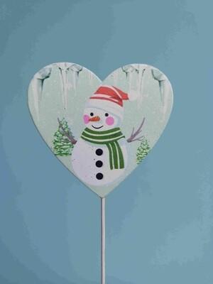 Вставка Сердце снеговик