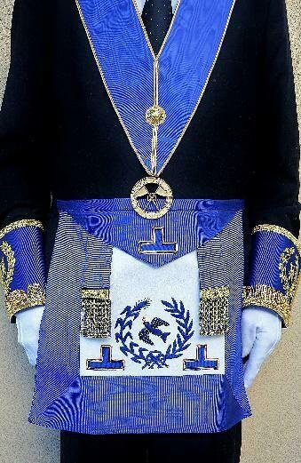 Tablier de Petite Tenue Officiers Nationaux (G.L.N.F., G.L.R.F., G.L.E.T…).