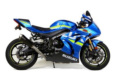 Brock's Predator Full System - Stainless Front Section w/ Electro-Black Muffler GSX-R1000/R (17-20)