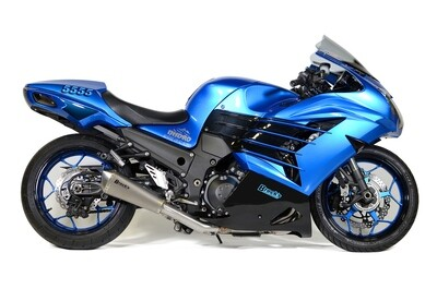 Brock's Predator Full System - Stainless Front Section w/ Titanium Muffler ZX-14R (12-20)