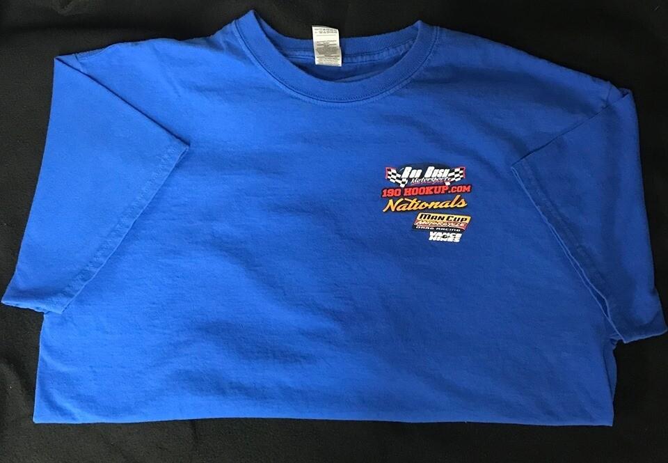 190HOOKUP.COM Nationals ManCup T-Shirt Darlington Dragway 2019