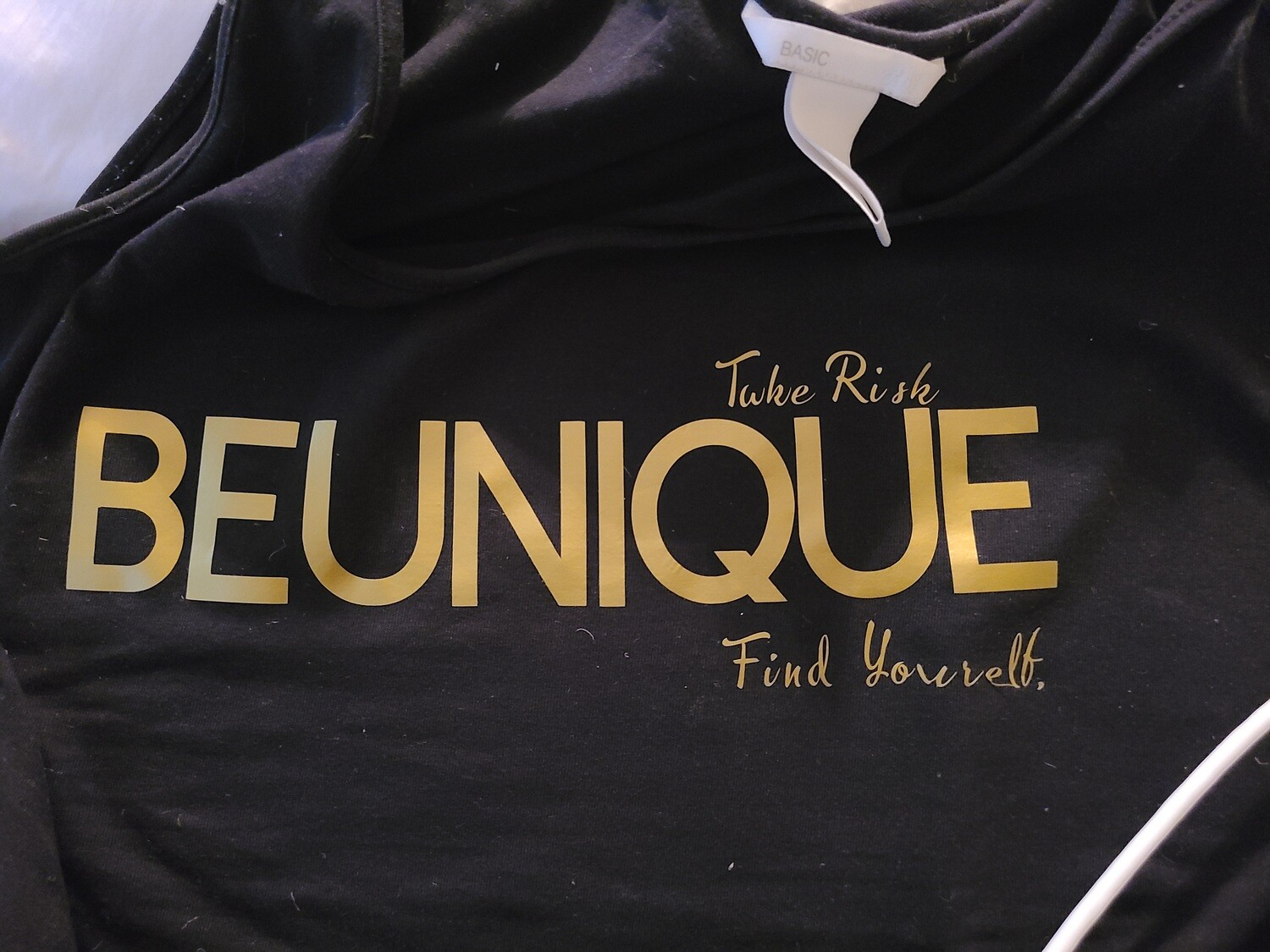 MERCH T-Shirt BEUNIQUE, TAKE RISK, FIND YOURSELF