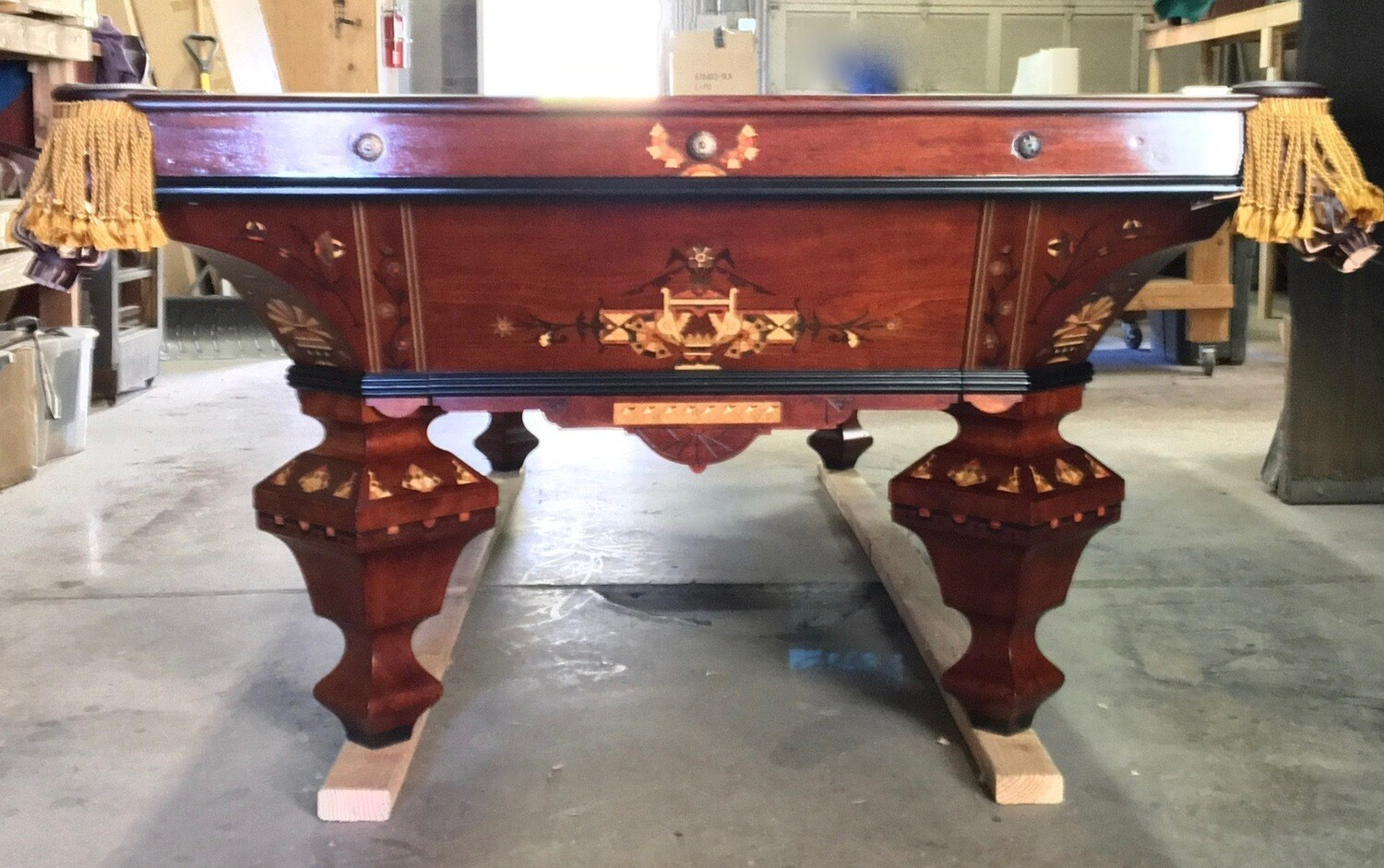 9' Brunswick Brilliant Novelty Pool Table - Circa 1880-1882