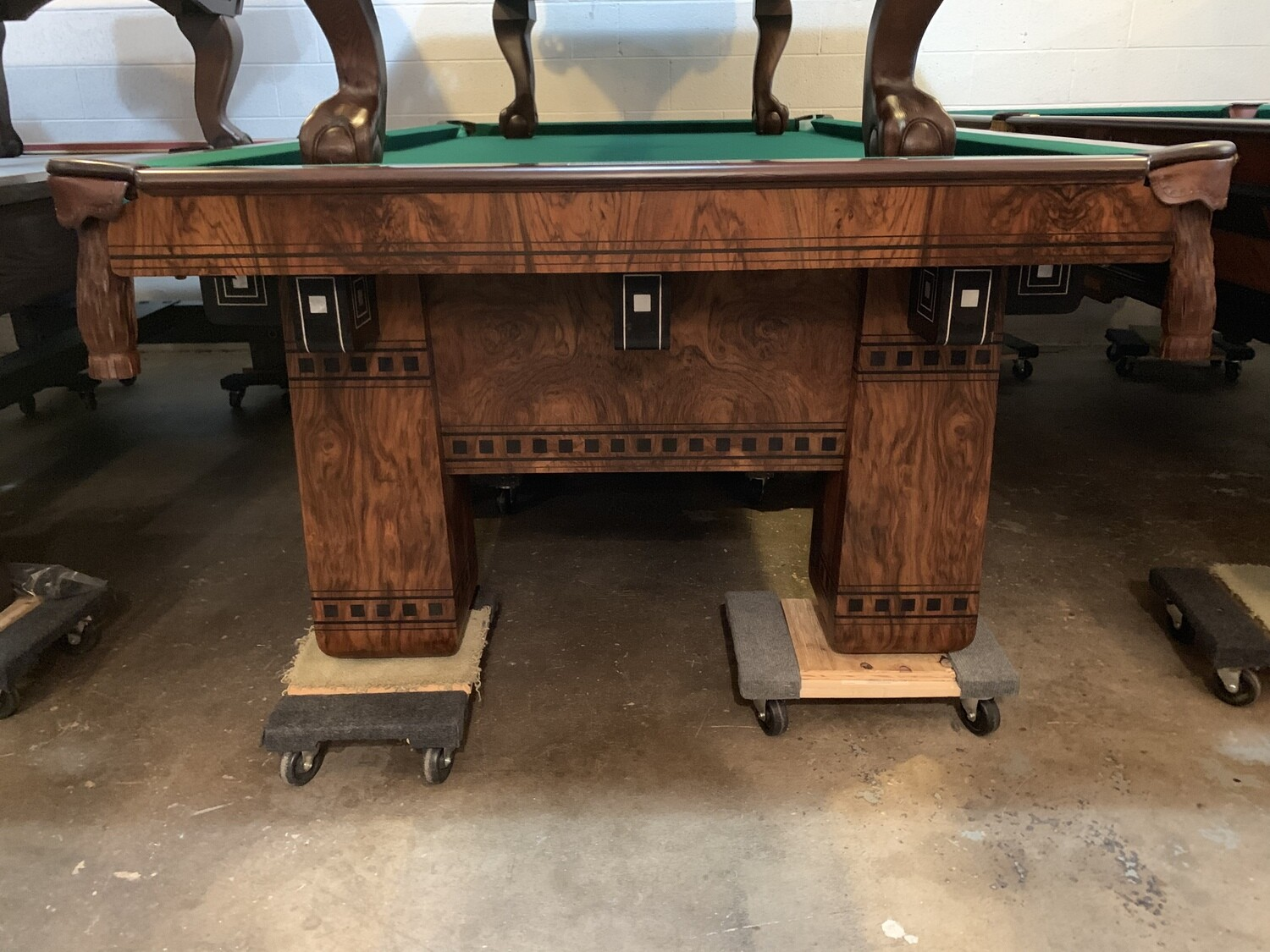 9' Brunswick Alexandria Pool Table - Circa early 1900's