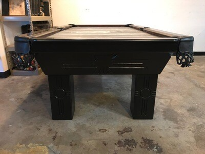 8' Black Connelly Azteca Pool Table