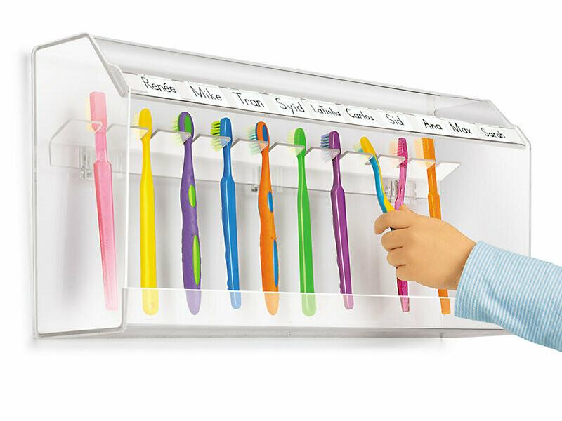 Zahnbürstenhalter-Set für 36 Kinder (1x Maxi & 1x Mini)