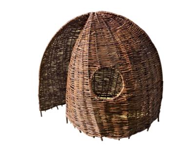 Weidenhütten-Set, besteht aus 3 Weidenhütten