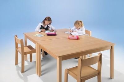 Kindertisch rechteckig - 4-er Set