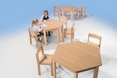 Kindertisch trapezförmig - 2-er Set